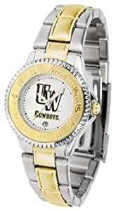 Wyoming Cowboys Competitor Ladies Watch with Two-Tone Band by SunTime