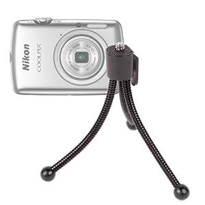 Petit trépied léger flexible + clip de ceinture pour appareil photo Nikon Coolpix série L dont L310, L810 et L25