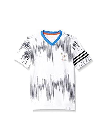 adidas T-Shirt Manica Corta YB M AOP Tee [Bianco/Nero]