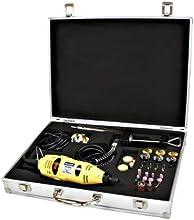 Rotacraft - Juego de fresadora con accesorios (230 V), color amarillo