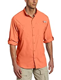 Columbia Men's Tamiami II Long Sleeve Shirt, Bright Peach, X-Large