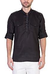 Desam Men's Linen Kurta Black 39