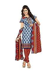 Khushbu Textile Women's Cotton Unstitched Salwar Suit (9005_Multicolor_Free Size)