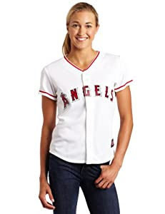 MLB Los Angeles Angels Home Replica Baseball Ladies Jersey, White by Majestic