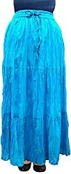 Cotton Breeze Womens Skirt (FP372,Turquoise)