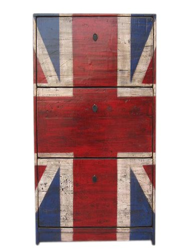 Very British GB cómoda aparador para el diseño de la bandera del Reino Unido Crédito de Inglaterra de los aficionados de Los