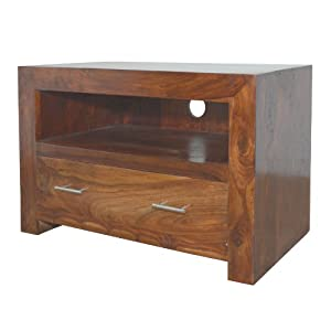 Buying Guide of  Cuba Sheesham Square TV Stand