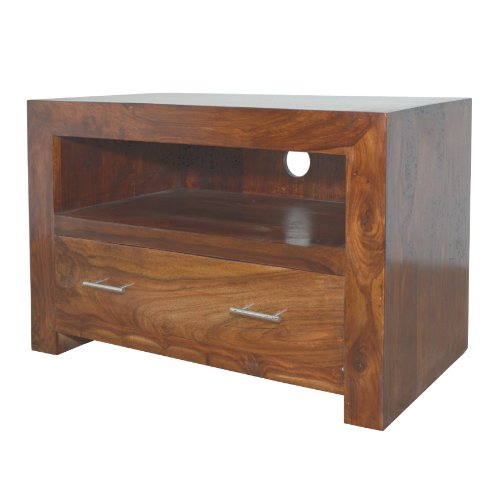 Cuba Sheesham Square TV Stand - Indian Wood Furniture Black Friday & Cyber Monday 2014