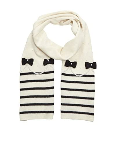 Alice Hannah Sciarpa Lana Stripes Pearl Bow