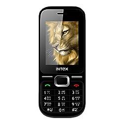 Intex Leo With Wireless FM (Dual Sim) (Black & Orange)
