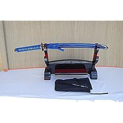 Gefaltetes Damaszener Samurai Schwert Wakizashi Orchidee