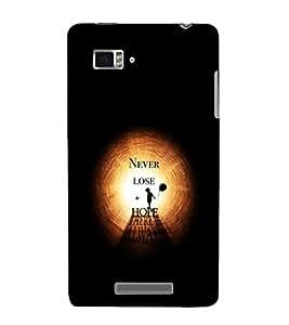 EPICCASE Never Lose Hope Mobile Back Case Cover For Lenovo Vibe Z K910 (Designer Case)