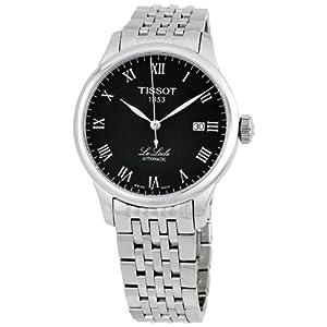 天梭Tissot男式T41148353 Le Locle黑色手表