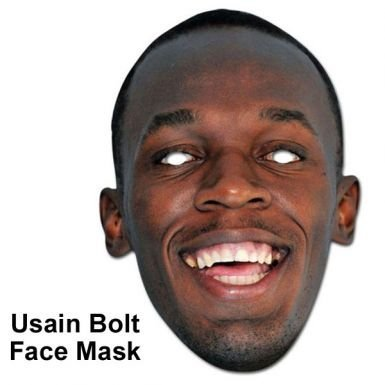 Usain Bolt Olympic Champion Face Mask by Jamaica