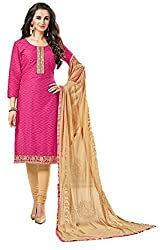 Riya Fashions Women's Cotton Unstitched Dress Material (R2005_Multicolor_Free Size)