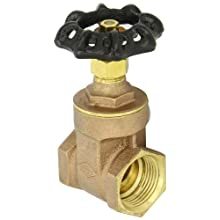 Dixon BGV100 Brass Gate Valve, 1&#034; NPT Female