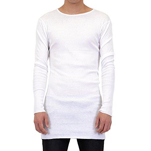 リックオウエンススタイル 白ガーゼ生地ロングスリーブカットソーTシャツ/WHITE[ホワイト] RICKOWENS -STYLE 【CRAY-TOKYO】