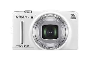 """Nikon Coolpix S9700 Appareil photo numérique compact 16 Mpix Écran LCD 3"""" Zoom optique 30X Blanc"""