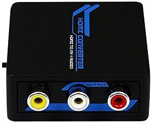 Portta PETHCAP HDMI to RCA Composite AV+ Audio Toslink Spdif Coax Mini Converter for TV/PC/PS3/Blue-Ray DVD 1080P