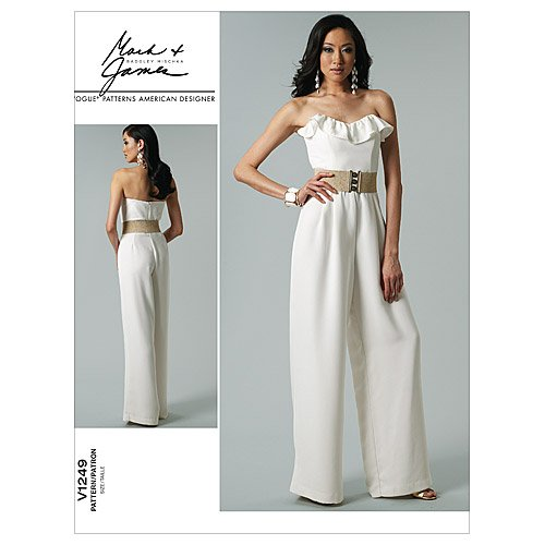 New Vogue Patterns V1249 Misses' Jumpsuit, Size EE (14-16-18-20)