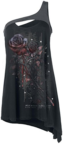 Alchemy England Bleeding Rose Top donna nero S