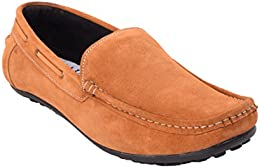 CAPLAND Mens Tan Colour Synthetic Leather Casual Loafer