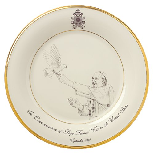 Lenox Pope Francis Commemorative Plate 2015