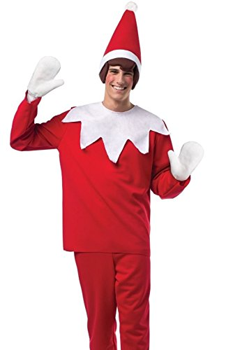 [Mememall Fashion Adult Funny Christmas Light Weight Elf On A ShElf Scout Costume] (Elf On Shelf Costumes)