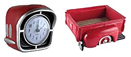 Vintage Chevrolet Paper Weight and Ford Paper Clip Holder Desk Accessories (Red)