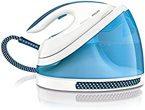 Philips GC7011/20 - Plancha de vapor, 2400 W, color blanco y azul (Importado)
