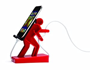 Boris Cell Mate Mobile Phone Mount Stand Music Player Holder - Red