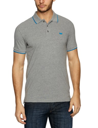 Levi's Shortsleeve Bernal Slim Pique Polo Logo Men's T-Shirt Heather Grey With Empire Blue Tipping XX-Large