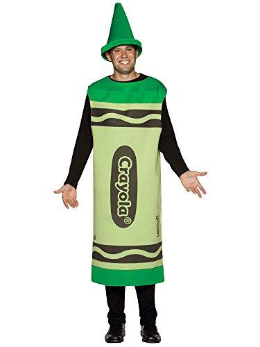 [Rasta Imposta Men's Crayola Crayon Costume Green Small/medium] (Adult Green Crayon Costumes)