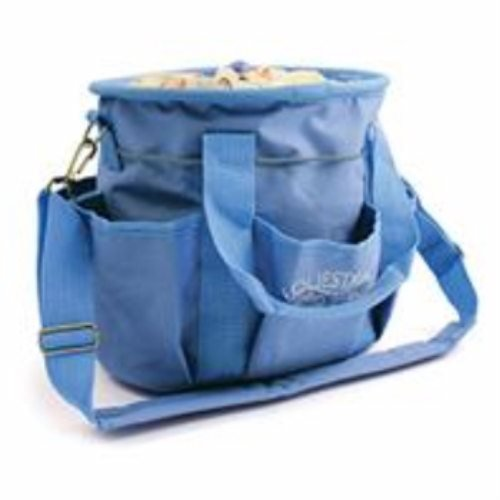 Desert Equestrian Equestria Sport Horseshoes Deluxe Grooming Tote 12 Inch Blue 2493