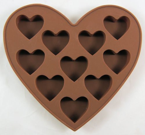 Baking Moulds Heart Shaped 10 Cav Silicone Mold for Fondant, Gum Paste, Chocolate, Cookies, Jelly, Ice Cream,Crafts Non-stick Silicone Sugarcraft Fondant Soap Mold Decorating 1Pcs # T 99 (Lego Base Tray compare prices)