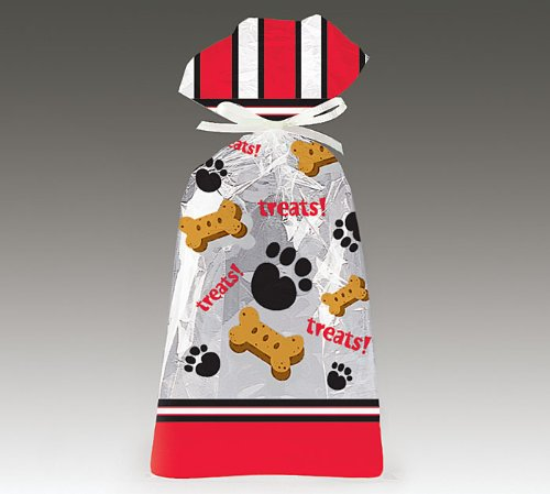 Large Dog Treats Cellophane Cello Party Favor Bags