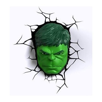 3D Light FX Marvel Hulk 3D Deco LED Wall Light