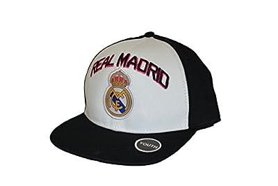 Real Madrid Fc Club Snapback Youth Kids Adjustable CAP Hat - White-black NEW Season