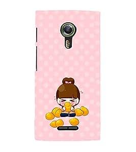 PRINTVISA Cute Girl Case Cover for Alcatel Onetouch Flash 2