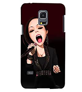 PrintVisa Music Singer 3D Hard Polycarbonate Designer Back Case Cover for Samsung Galaxy S5 Mini