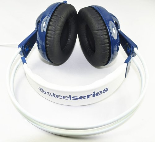 Blue Brand New Steelseries Siberia V2 Headset Pc Video Game Headsets Over-Ear Headset Headphones