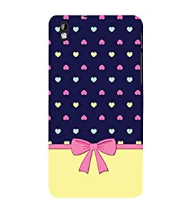 Multicolor Heart Design Cute Fashion 3D Hard Polycarbonate Designer Back Case Cover for HTC Desire 816 :: HTC Desire 816 Dual Sim :: HTC Desire 816G Dual Sim