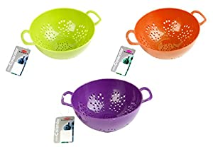 Culinary Elements 6-inch Mini Colander with Double Handles and Deep Bowl