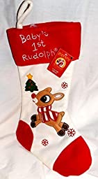 Rudolph the Red Nosed Reindeer 18 Baby\'s 1st Rudolph Chriatmas Stocking by Dan Dee