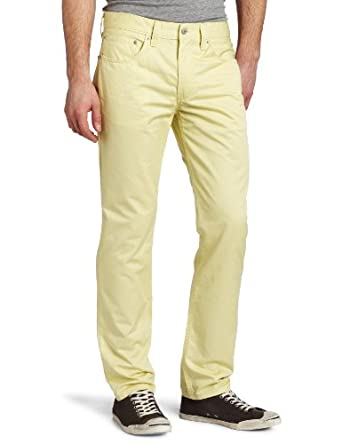 Levi's Men's 511 Skinny Rinsed Jean, Dusty Yellow, 34x32