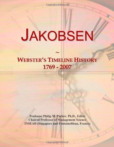 Jakobsen: Webster'S Timeline History, 1769 - 2007
