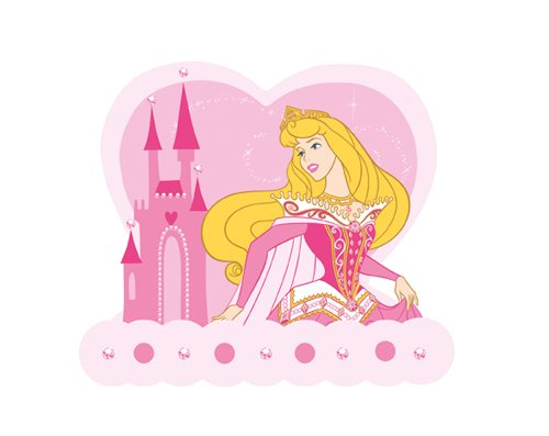Blue Mountain Disney Princess 3D005 Foam Wall Hook, Pink - 1