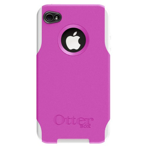 OtterBox Commuter Series Hybrid Case for iPhone 4 (Pink/White) (Fits AT&T iPhone)