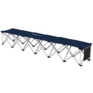 Portable Folding Sports Bench Sideline Collapsible Bench 6 Seats With Carry Case