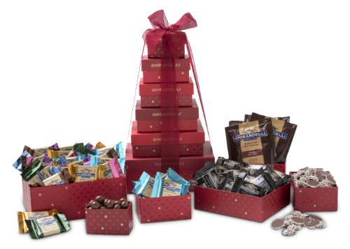 Ghirardelli Sentimental Chocolates Tower, 6 Stack, 2.75 Pound